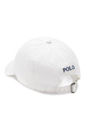 Мужской хлопковая бейсболка POLO RALPH LAUREN белого цвета, арт. 710548524 | Фото 2