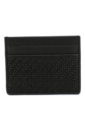 Мужской кожаный футляр для кредитных карт ERMENEGILDO ZEGNA черного цвета, арт. E1139P-PTA | Фото 1