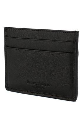 Мужской кожаный футляр для кредитных карт ERMENEGILDO ZEGNA черного цвета, арт. E1139P-PTA | Фото 2