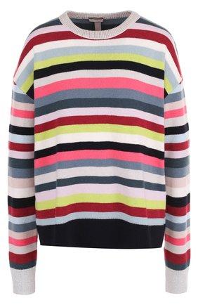 Вязаный пуловер с круглым вырезом   Фото №1