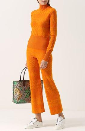 Облегающая вязаная водолазка Missoni оранжевая | Фото №1