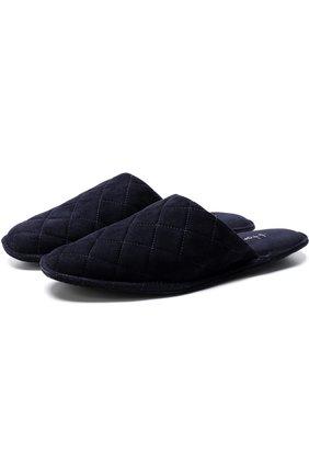Домашние замшевые туфли Homers At Home темно-синяя | Фото №1
