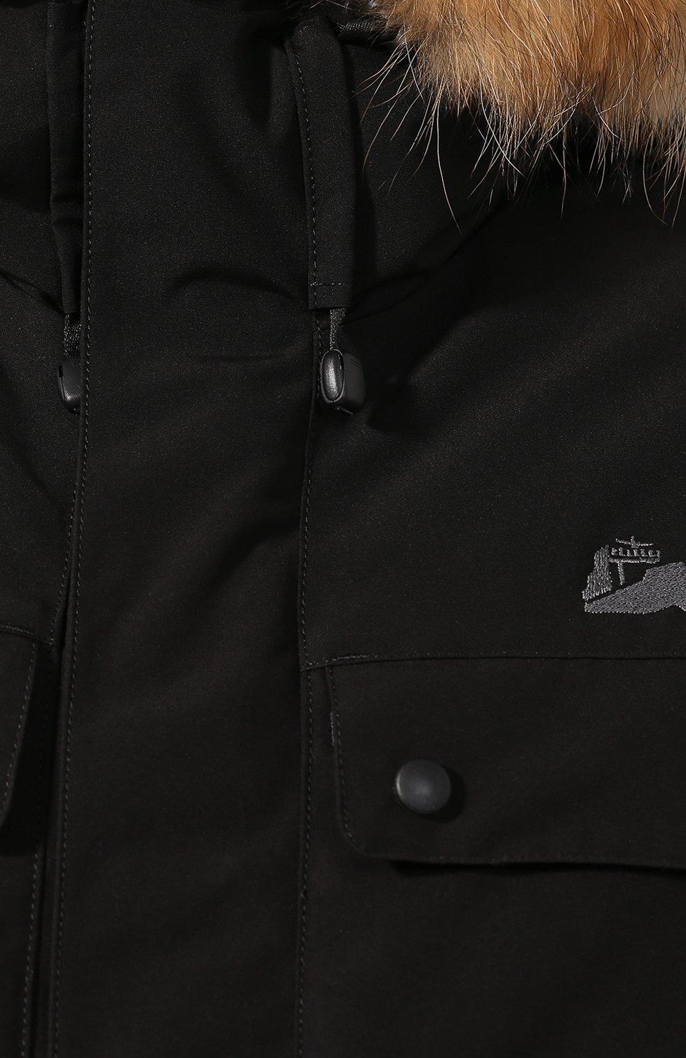Мужская пуховая парка polus ARCTIC EXPLORER черного цвета, арт. POLUS_BLK | Фото 5