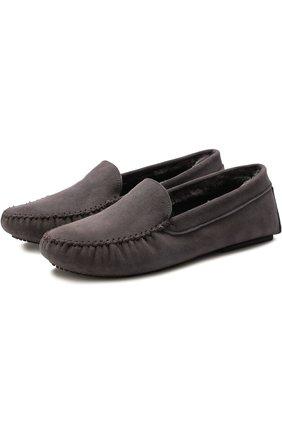 Домашние туфли с внутренней отделкой из овчины | Фото №1