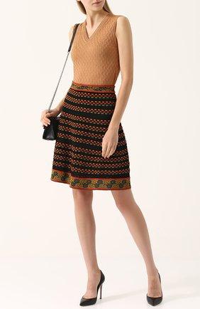 Вязаная мини-юбка А-силуэта M Missoni разноцветная | Фото №1