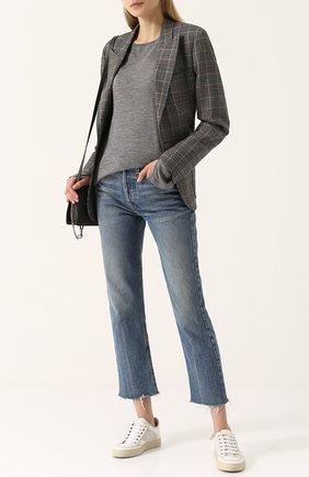 Кашемировый пуловер с круглым вырезом Barrie серый | Фото №1
