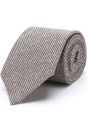 Мужской галстук из смеси шелка и шерсти TOM FORD темно-бежевого цвета, арт. 2TF15/XTF | Фото 1