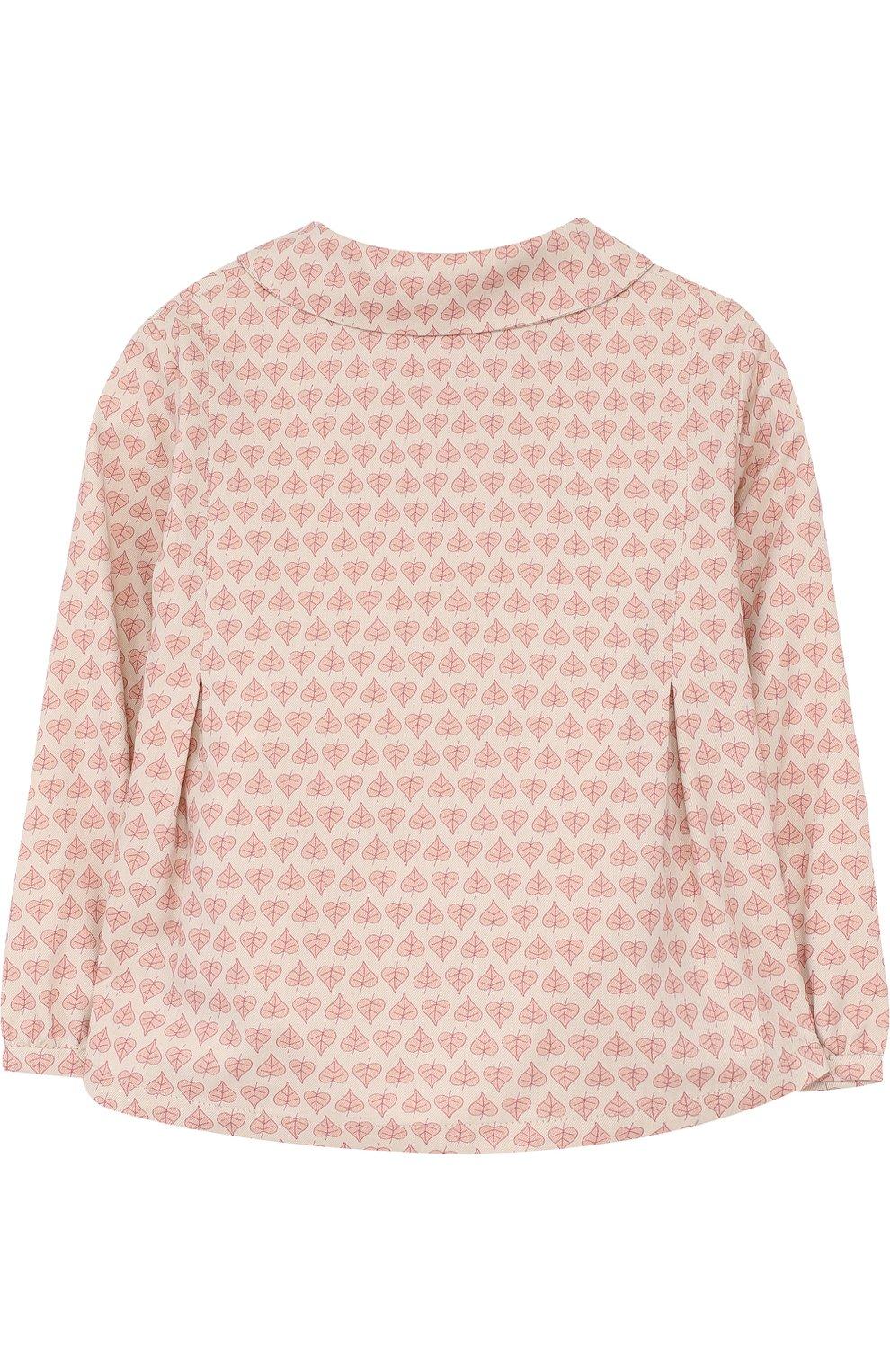 Хлопковая блуза с принтом   Фото №2