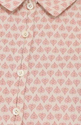 Хлопковая блуза с принтом   Фото №3