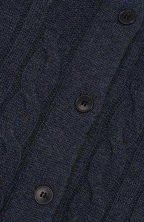 Кашемировый кардиган фактурной вязки   Фото №3
