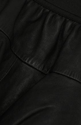 Кожаная мини-юбка с оборками | Фото №3