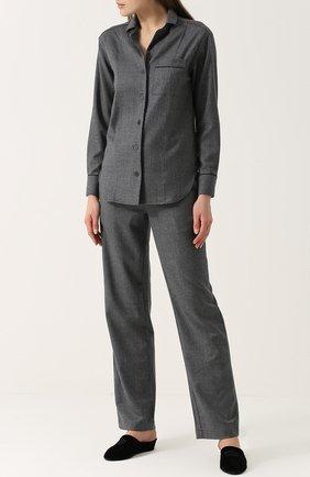 Шерстяная домашняя блуза Morpho&Luna темно-серая | Фото №1