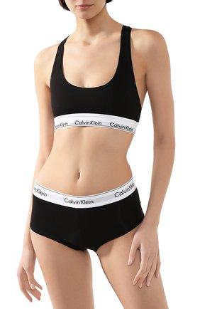 Женский бюстгальтер с логотипом бренда CALVIN KLEIN черного цвета, арт. F3785E | Фото 2