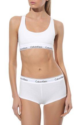 Женский бюстгальтер с логотипом бренда CALVIN KLEIN белого цвета, арт. F3785E | Фото 2