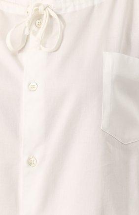Хлопковая блуза с круглым вырезом | Фото №5