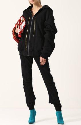 Хлопковый кардиган свободного кроя с капюшоном Haider Ackermann черный | Фото №1