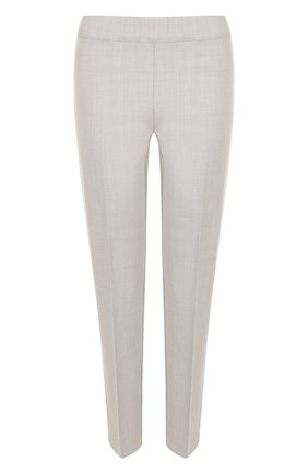 Укороченные шерстяные брюки со стрелками D.Exterior светло-серые | Фото №1