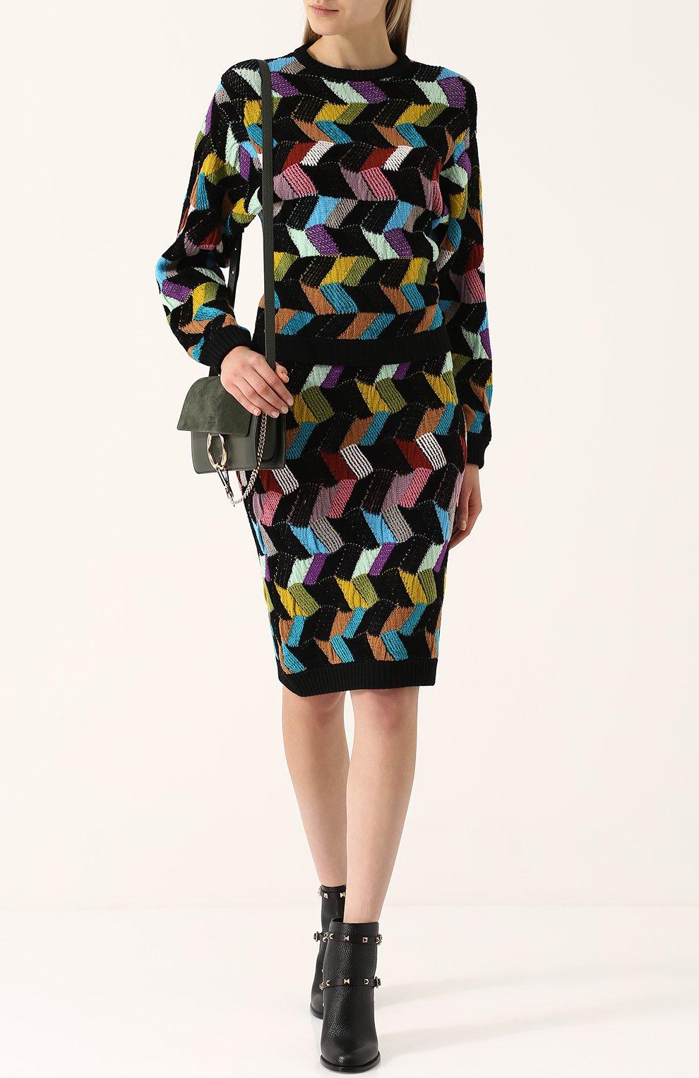 Шерстяной пуловер с круглым вырезом Missoni разноцветный | Фото №2
