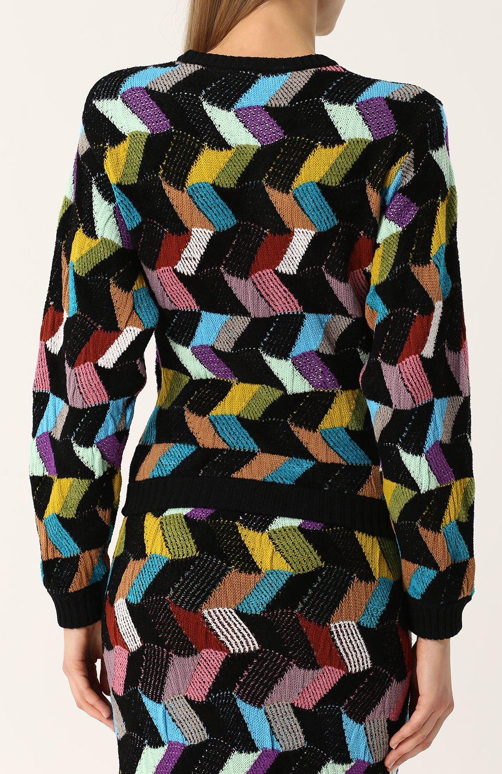 Шерстяной пуловер с круглым вырезом Missoni разноцветный | Фото №4