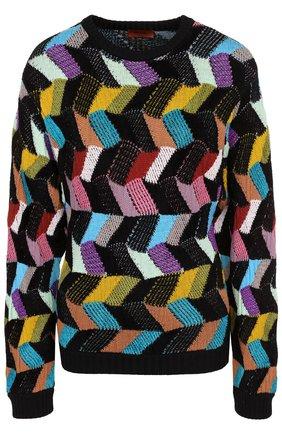 Шерстяной пуловер с круглым вырезом Missoni разноцветный | Фото №1