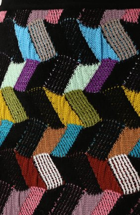 Шерстяная юбка-миди фактурной вязки | Фото №5