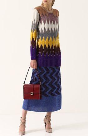 Удлиненный пуловер с круглым вырезом Missoni разноцветный | Фото №1