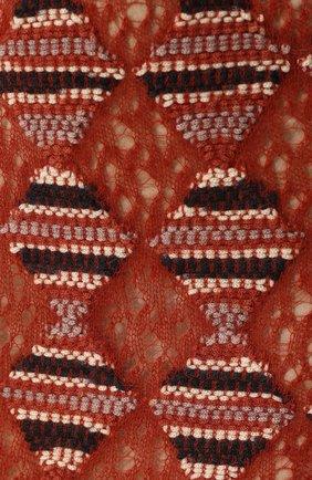 Шерстяная юбка-миди с широким поясом Missoni оранжевая | Фото №5