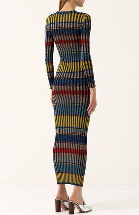 Вязаное платье-макси с длинным рукавом | Фото №4