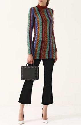 Удлиненный приталенный пуловер с длинным рукавом Missoni разноцветный | Фото №1