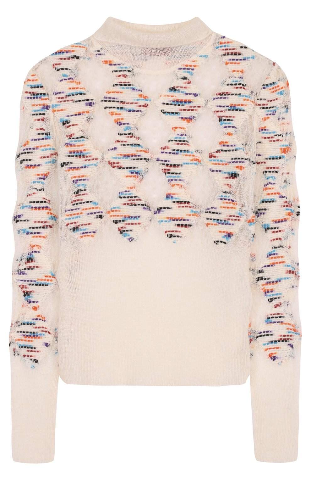 Приталенный шерстяной свитер с высоким вырезом | Фото №1