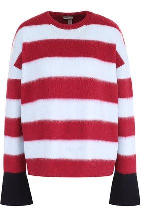 Пуловер из смеси шерсти и кашемира в полоску   Фото №1