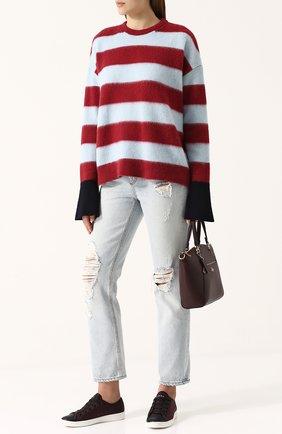 Пуловер из смеси шерсти и кашемира в полоску MRZ разноцветный | Фото №1