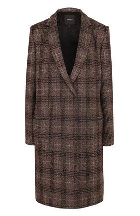 Пальто прямого кроя с узкими лацканами   Фото №1