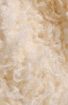 Вязаный шарф из смеси шерсти и мохера Missoni кремовый | Фото №1