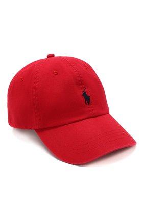 Мужской хлопковая бейсболка POLO RALPH LAUREN красного цвета, арт. 710548524 | Фото 1