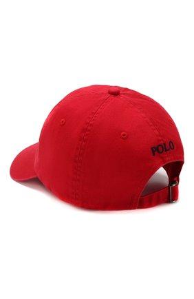 Мужской хлопковая бейсболка POLO RALPH LAUREN красного цвета, арт. 710548524 | Фото 2