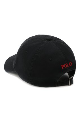 Мужской хлопковая бейсболка POLO RALPH LAUREN черного цвета, арт. 710548524 | Фото 2