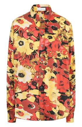 Шелковая блуза с цветочным принтом | Фото №1