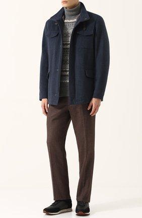 Кашемировая куртка на молнии с меховой подкладкой | Фото №2