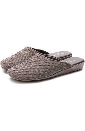 Плетеные домашние туфли на танкетке | Фото №1