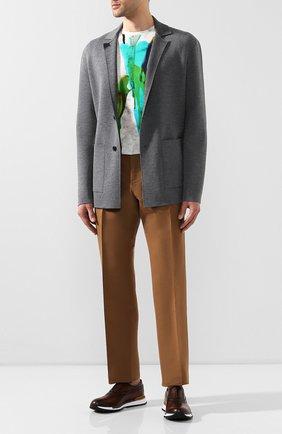 Мужские кожаные кроссовки BERLUTI коричневого цвета, арт. S3873-008 | Фото 2
