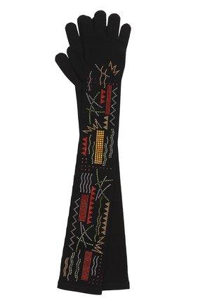 Удлиненные перчатки с декором из страз | Фото №1