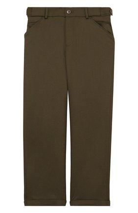 Шерстяные брюки прямого кроя с отворотами | Фото №1