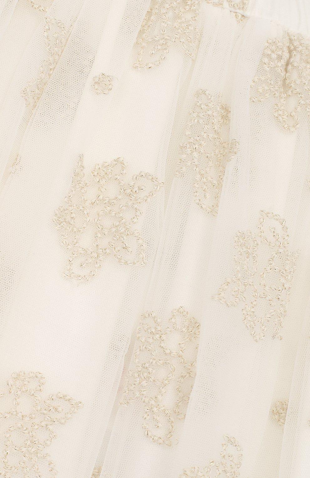 Юбка свободного кроя с вышивкой | Фото №3