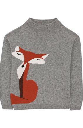 Кашемировый свитер с принтом | Фото №1
