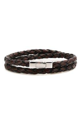 Мужской кожаный браслет TATEOSSIAN коричневого цвета, арт. BR-3803 | Фото 1