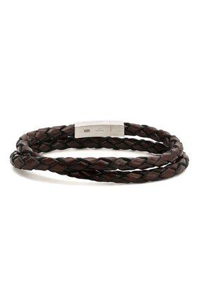 Мужской кожаный браслет TATEOSSIAN коричневого цвета, арт. BR-3803 | Фото 2