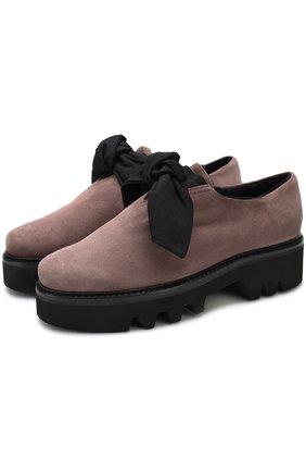 Замшевые ботинки Fabula с внутренней отделкой из овчины Steiger коричневые | Фото №1