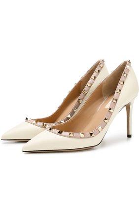 Кожаные туфли Valentino Garavani Rockstud на шпильке | Фото №1