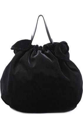 Сумка из текстиля Simone Rocha черная цвета | Фото №1